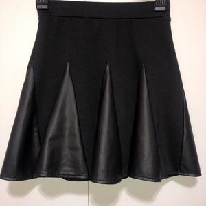 joe b. black skirt with leather sections.